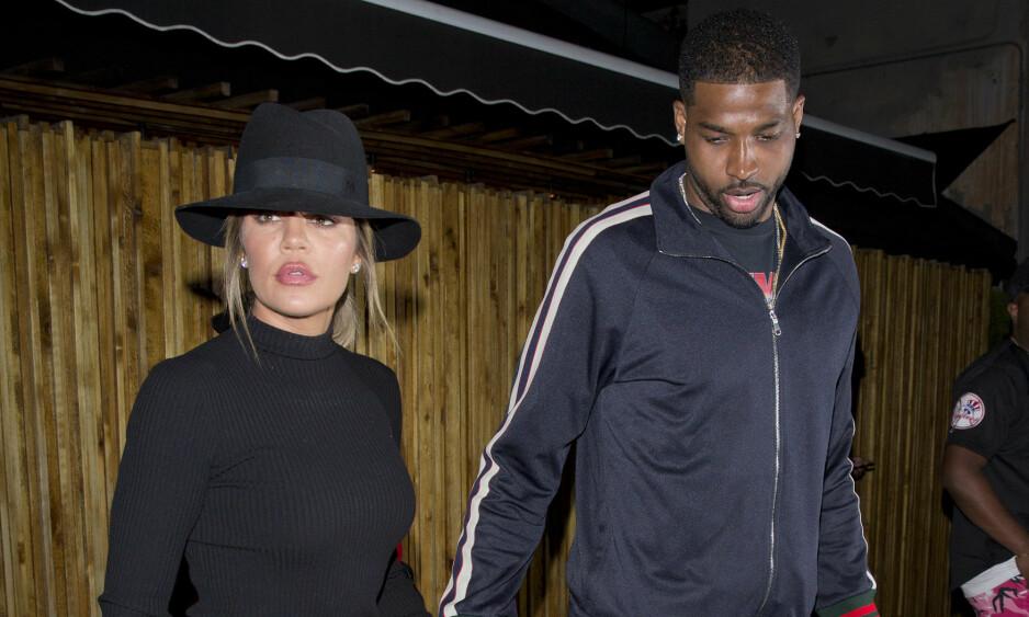 PÅ DATE: Khloé Kardashian og Tristan Thompson prøver å redde forholdet med kvalitetstid. Bildet er fra en tidligere anledning. Foto: NTB Scanpix