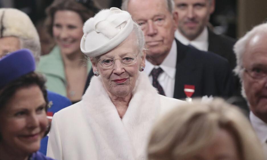<strong>MELDTE AVBUD:</strong> Dronning Margrethe måtte torsdag avlyse et møte med den nye næringsministeren, grunnet smerter. Foto: Lise Åserud / NTB Scanpix