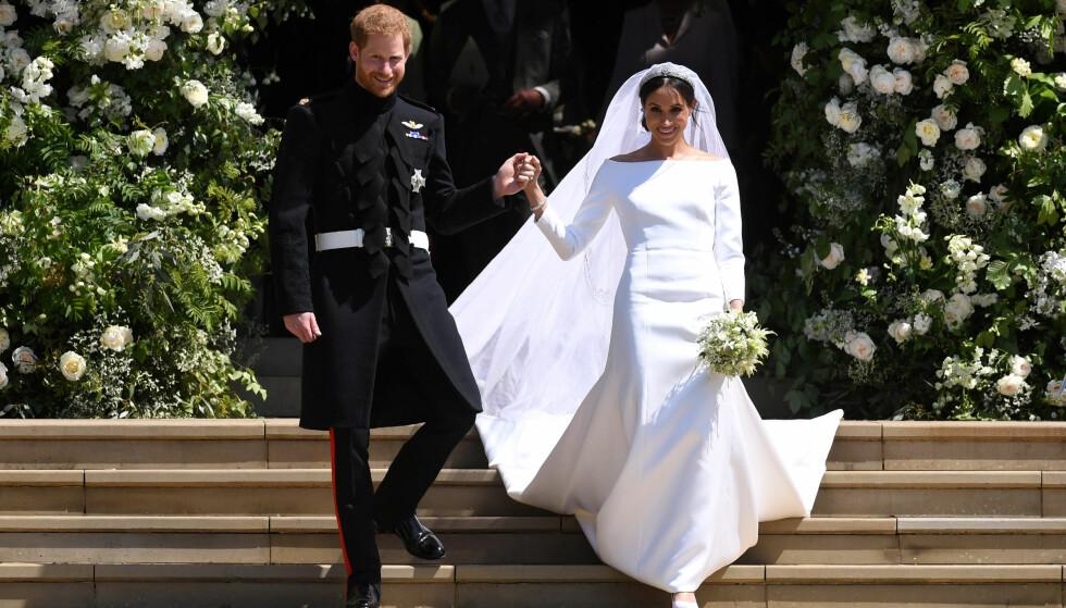 EVENTYRBRYLLUP: 19. mai giftet prins Harry seg med amerikanske Meghan Markle. Med ekteskapet ble de to hertug og hertuginne av Sussex. Foto: Reuters
