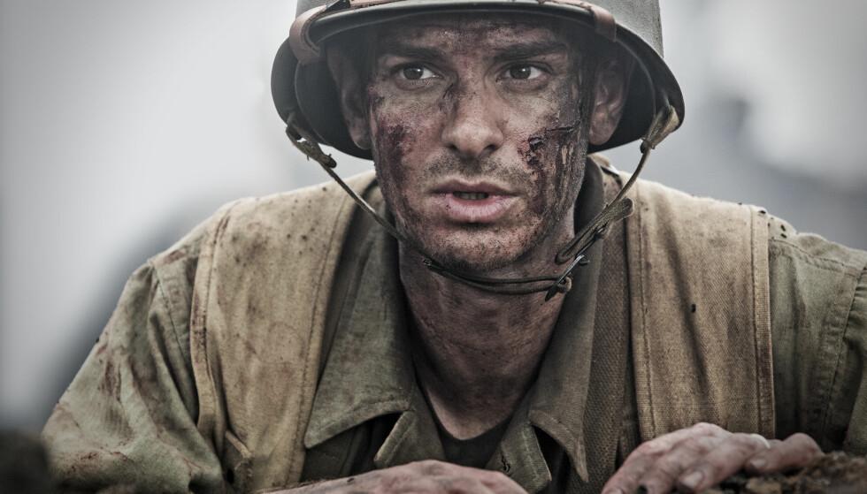 TALENTFULL: Andrew Garfield ble nominert til både Oscar og BAFTA awards for sin rolle i dramaet Hacksaw Ridge fra 2016. Foto: NTB Scanpix