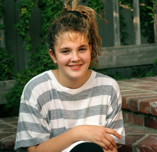 <strong>HADDE RUSPROBLEMER:</strong> Drew Barrymore avbildet som ung stjerne i 1987. Foto: AP/ NTB scanpix