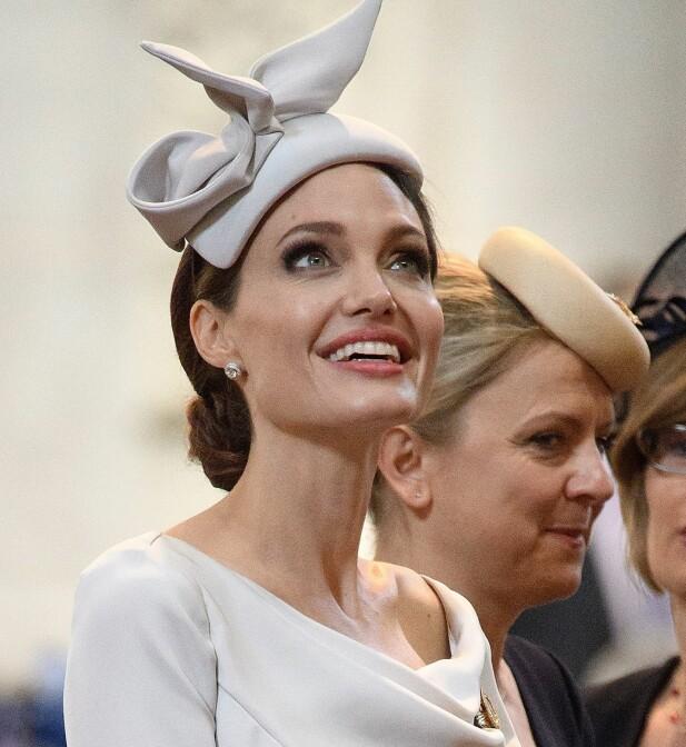 TIL STEDE: Hollywood-stjernen Angelina Jolie er blant gjestene under 200-årsmarkeringen i St. Paul-katedralen. Foto: Getty Images/ NTB scanpix