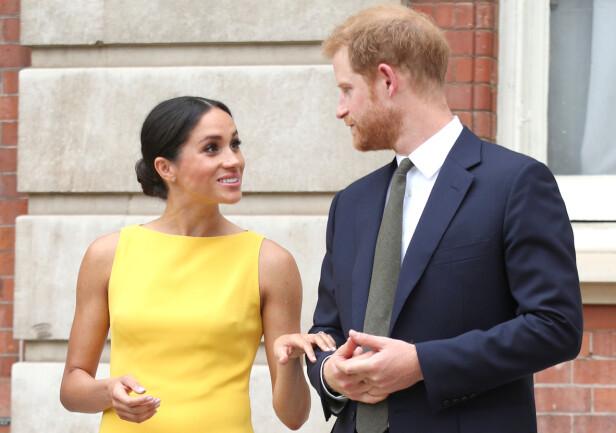 FORELSKET: Hertuginne Meghan og prins Harry ser tilsynelatende like forelsket ut som de har gjort tidligere. Foto: NTB Scanpix