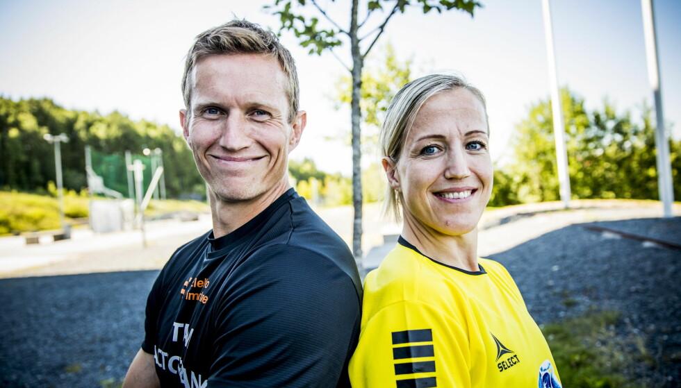 SPORTY SØSKEN: Frank og Heidi Løke er begge profilerte navn innen håndballsporten. Foto: Christian Roth Christensen / Dagbladet