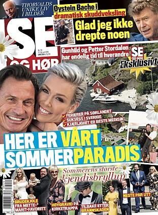 I SALG NÅ: I ukens Se og Hør kan du lese om Gunhild og Petter Stordalens ferieparadis, alt om sommerens store kjendisbryllup og mye mer.