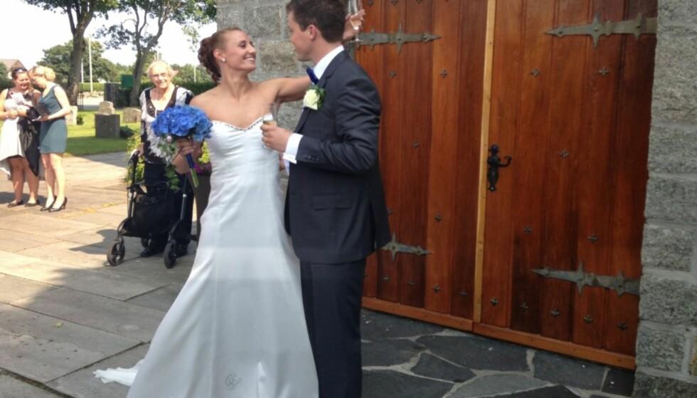 BRUD: 6. juli 2013 giftet Camilla Herrem seg med mannen i sitt liv. Foto: Cathrine Løkken / Se og Hør