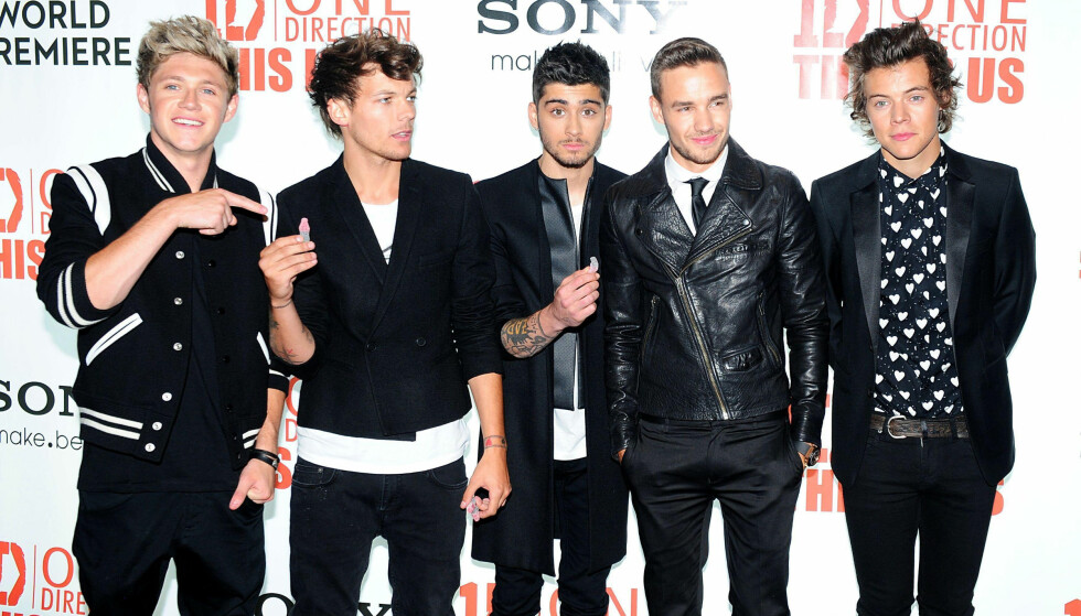 ONE DIRECTION: Niall Horan (tv), Louis Tomlinson, Zayn Malik, Liam Payne og Harry Styles. One Direction ble dannet under den britiske versjonen av X Factor i 2010. Foto: NTB Scanpix