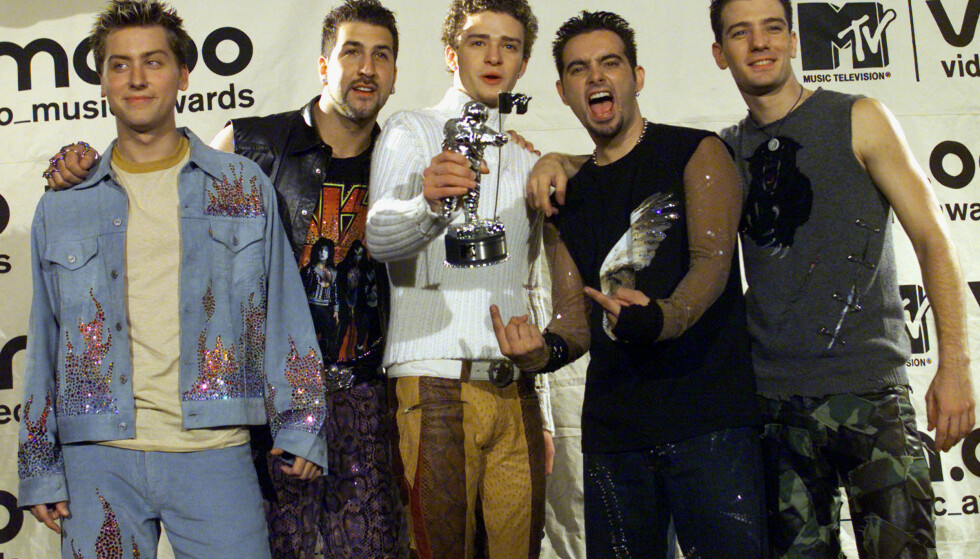 <strong>PRISVINNERE:</strong> Boybandet 'N Sync hadde en enorm suksess i årene de holdt sammen. Her er de avbildet i 2000. Foto: NTB Scanpix