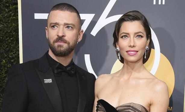 <strong>LYKKELIG GIFT:</strong> Justin Timberlake og Jessica Biel har vært gift siden 2012. Sammen har de sønnen Silas. Foto: NTB Scanpix