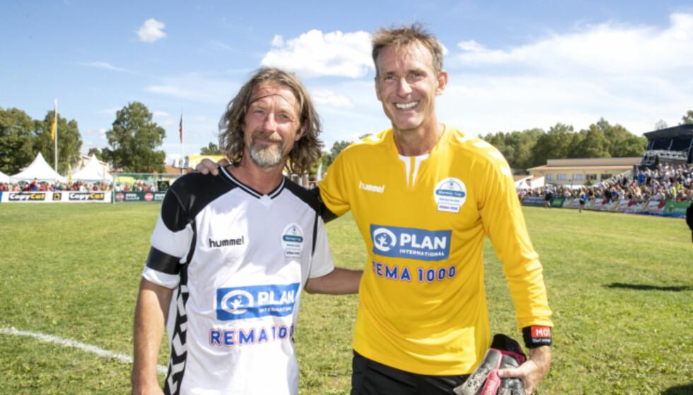 GA ALT: Både tidligere fotballstjerne Erik Mykland og Carsten Skjelbreid imponerte stort på Ekebergsletta. Foto: Andreas Fadum, Se og Hør
