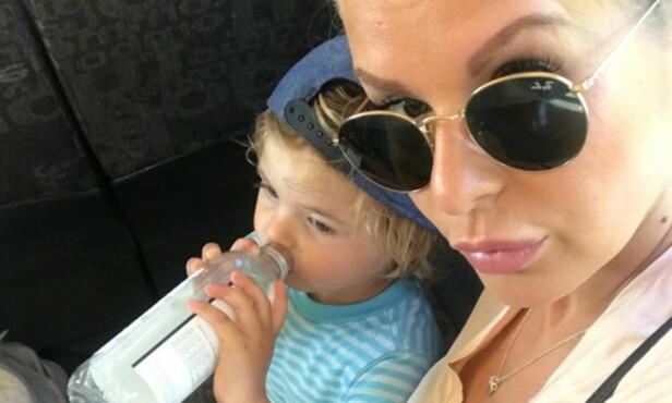 DELER BILDER AV SØNNEN: Mari har ikke noe i mot å dele bilde bilder av sønnen på sosiale medier. Foto: Privat