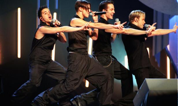 POPULÆRE: Popgruppen A1, bestående av f.v. Ben Adams, Christian Ingebrigtsen og Mark Read har jubileumsturné etter 20 år som band. Foto: NTB Scanpix