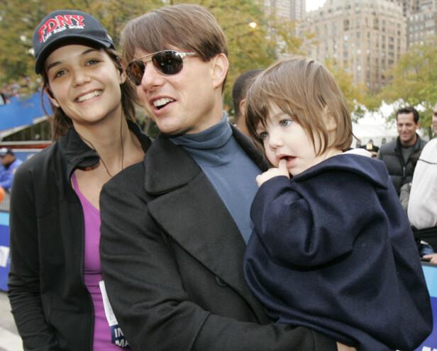 EKSER: Katie var gift med Tom Cruise fra 2006 til 2012. Her sammen med datteren Suri i 2007. Foto: NTB Scanpix
