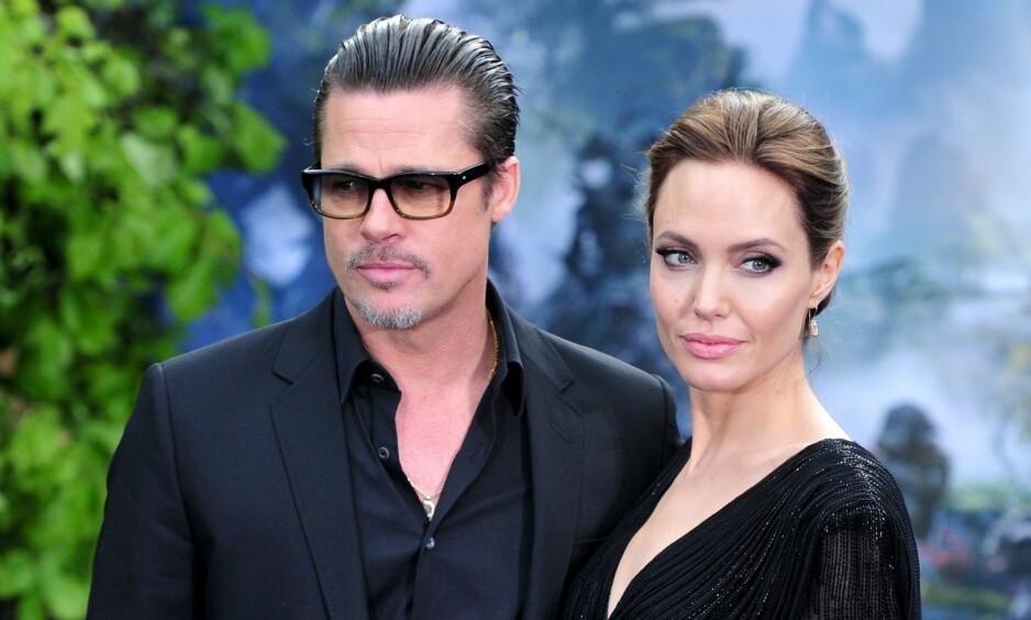 DRAMATIKK: Brad Pitt og Angelina Jolie klarer fremdeles ikke å komme til enighet rundt detaljene i skilsmissen. Foto: NTB scanpix
