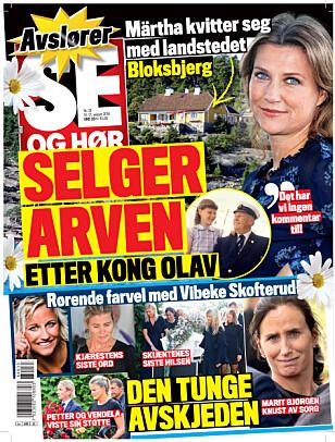 SELGER: Se og Hør kan i dag røpe at Märtha Louise vil selge Bloksbjerg. Foto: Faksimile