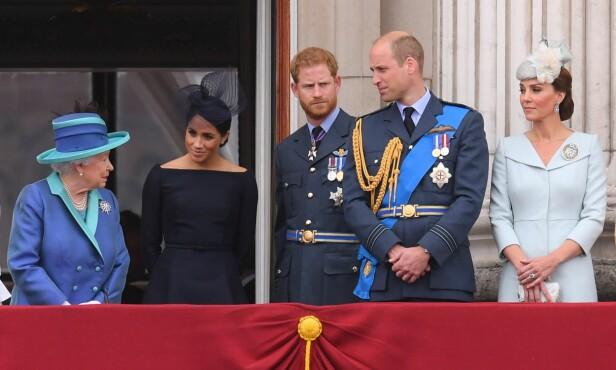 <strong>GODKJENNELSE:</strong> William og Kate må be dronningen om hennes godkjennelse før de tar beslutninger rundt sine egne barn. Det vil også Harry og Meghan måtte gjøre, om de får egne barn. Foto: NTB Scanpix