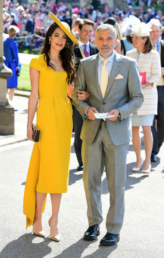FARGERIK: George Clooney og kona Amal var tilstede i det kongelige bryllupet i mai. Foto: NTB Scanpix