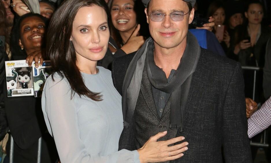 ER ENIGE: Etter knappe to år med et skilsmissemareritt, skal Brad Pitt og Angelina Jolie nå ha blitt enige om fordelingen når det gjelder deres seks barn. Foto: NTB Scanpix