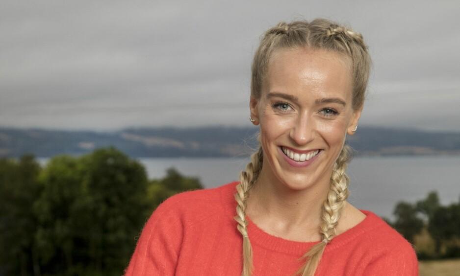 IKKE BARE BLID: Selv om Katarina Flatland er kjent for sitt brede smil og gode humør, er det ikke hver dag den ppulære programlederen klarer å holde humøret oppe. Foto: Morten Eik