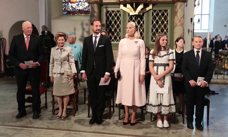 FÅR OPPMERKSOMHET: Etter onsdagens feiring av gullbryllpet til kong Harald og dronning Sonja er det én helt spesiell detalj som har fått mye oppmerksomhet. Foto: NTB Scanpix