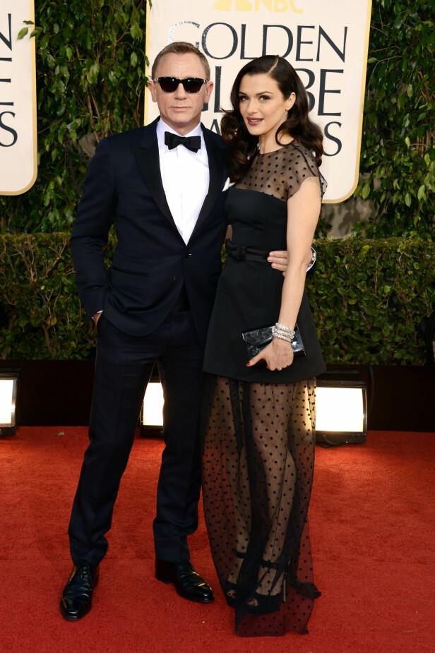 <strong>VERNER OM PRIVATLIVET:</strong> Daniel og Rachel er ikke kjent for å være utleverende om sitt privatliv. Her avbildet under Golden Globe Awards i Los Angeles i 2013. Foto: NTB Scanpix