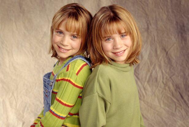 BARNESTJERNER: Mary-Kate og Ashley Olsen medvirket i en rekke filmer, før de la skuespillerkarrieren på hylla. Her avbildet i 1998. Foto: NTB Scanpix