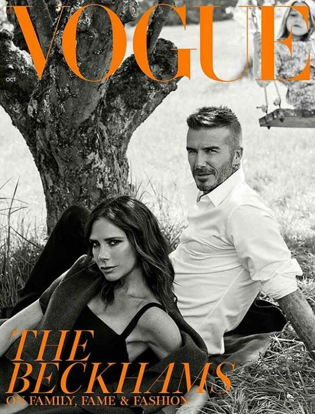 EKSKLUSIV UTGAVE: David Becham skal selv ha takket nei til den originale utgaven av Vogue, men dukket opp på forsiden til dem som abbonerer på bladet. Foto: Faksimile, Vogue