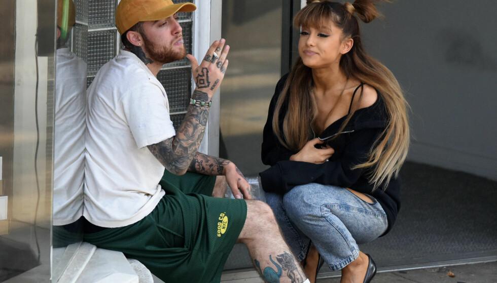 EKSER: Mac Miller og Ariana Grande gikk fra hverandre tidligere i år, etter å ha vært et par siden 2016. Foto: NTB scanpix