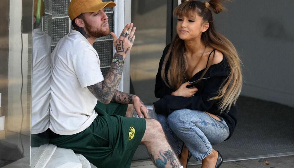 SVAR: Ariana Grande tar bladet fra munnen om ekskjærestens brå dødsfall. Hun skriver at hun har forsøkt å hjelpe ham, men at forsøkene viste seg å være forgjeves. Foto: NTB scanpix
