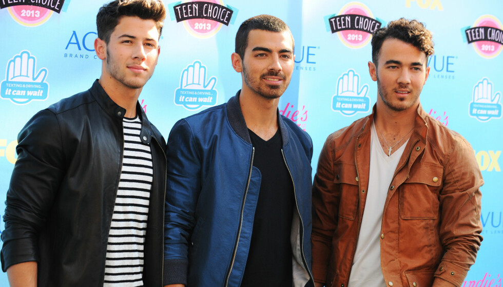 GIKK HVER SIN VEI: Nick, Joe og Kevin Jonas var lenge i det berømte bandet Jonas Brothers. Etter at bandet gikk i oppløsning har de tre brødrene gått hver sin vei. Foto: NTB Scanpix