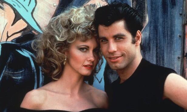 IKONISK: Olivia Newton-John var 28 år gammel da de spilte inn «Grease», mens motspilleren John Travolta var 23 år gammel. Foto: NTB scanpix