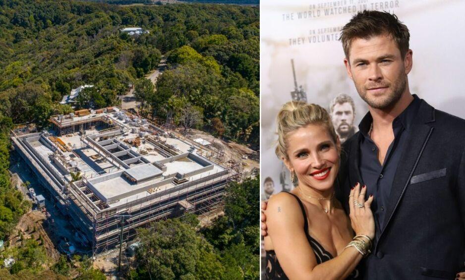 BYGGER HUS: Chris Hemsworth og kona bygger for tiden et gigantisk hus i nærheten av Byron Bay. Lokalbefolkningen er ikke begeistret. Foto: Splash News / NTB Scanpix