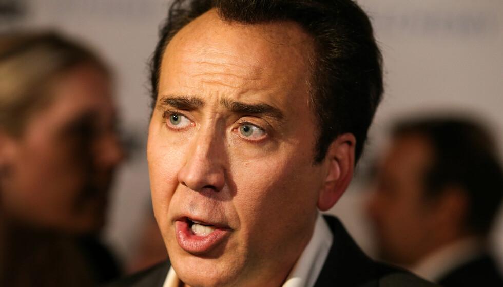 SINGEL IGJEN: Hollywood-skuespilleren Nicolas Cage (54) har tre havarerte ekteskap bak seg. De to første er åpenbart ikke like viktige som det siste. Foto: NTB Scanpix