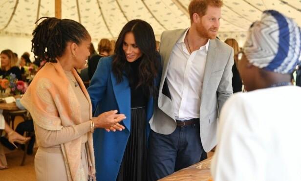 SKJULT KUL?: Flere brukere på Twitter mener dette bildet er det soleklare beviset på at Meghan bærer på en liten hertug eller «lady». Foto: NTB scanpix