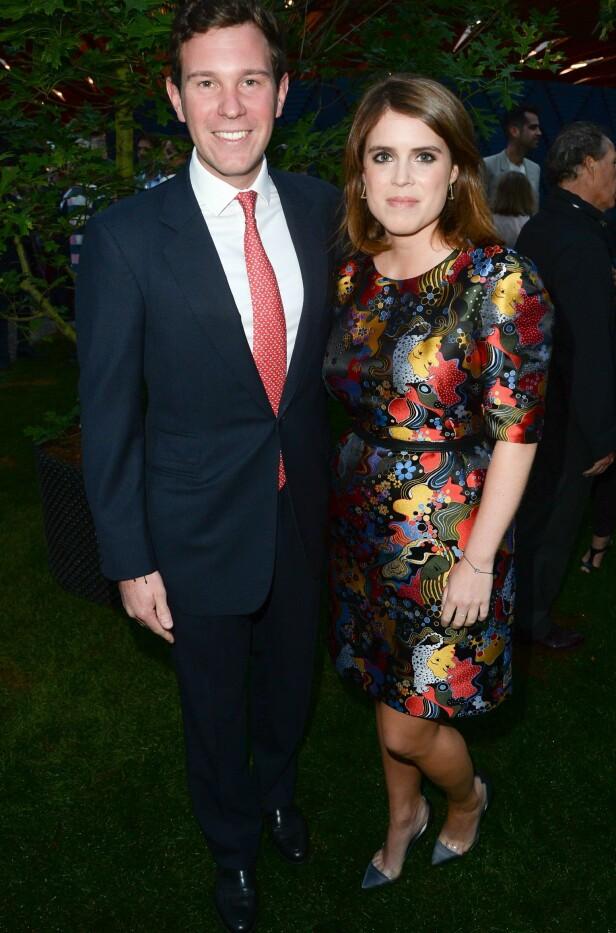 GIFTEKLARE: Prinsesse Eugenie gifter seg med Jack Brooksbank førstkommende fredag. Det blir uten «tante» Camilla i salen. Foto: NTB scanpix