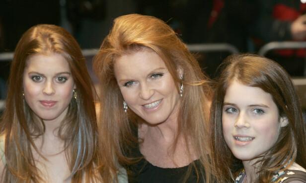 PROFILERTE: Prinsessebarna til Sarah Ferguson og prins Andrew har vokst opp i rampelyset, og er godt vant med litt oppmerksomhet. Foto: NTB scanpix