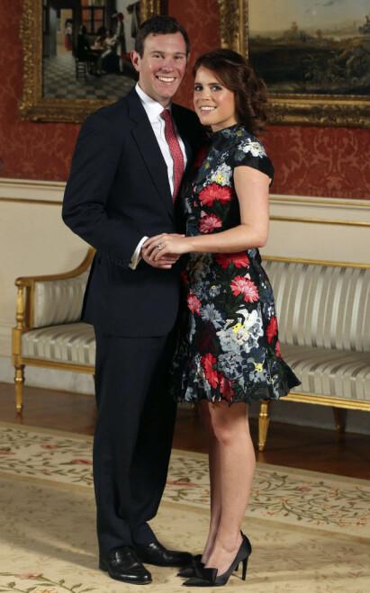 GIFTEKLARE: Prinsesse Eugenie gifter seg med Jack Brooksbank fredag. Foto: NTB Scanpix