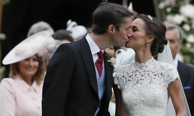 BLIR FORELDRE: Pippa giftet seg med James Matthews i fjor sommer. Snart blir de foreldre for første gang. Foto: NTB Scanpix