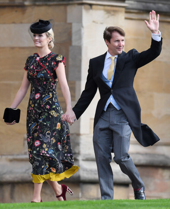 SANGSTJERNE: James Blunt ankom sammen med sin kone, Sofia Wellesley. Foto: NTB scanpix