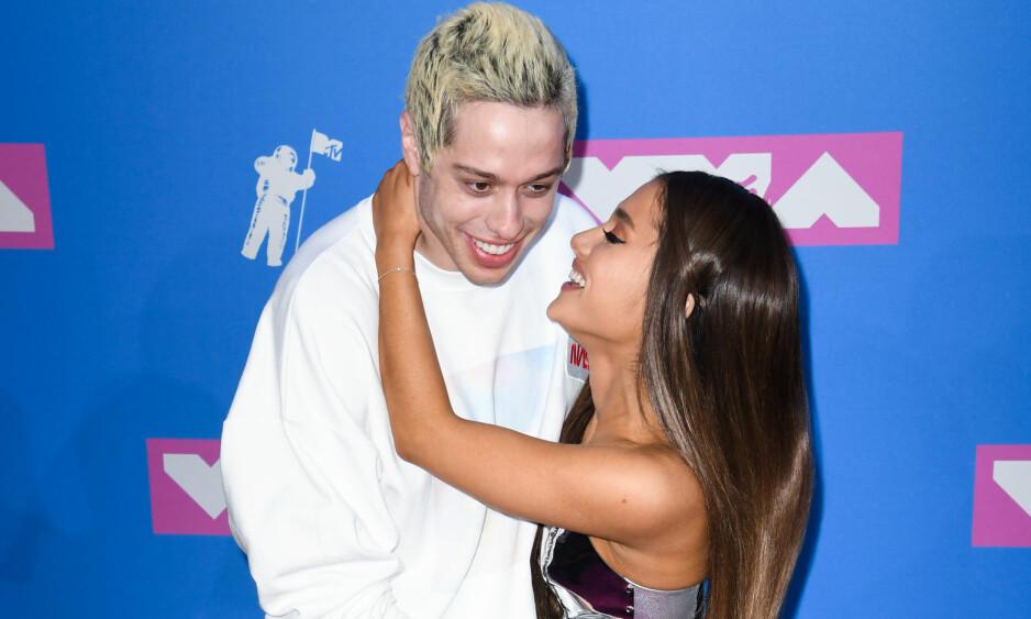 <strong>SLUTT:</strong> Ifølge en kilde tett på Ariana Grande er det slutt mellom henne og komikeren Pete Davidson. Foto: Doug Peters / EMPICS / NTB Scanpix
