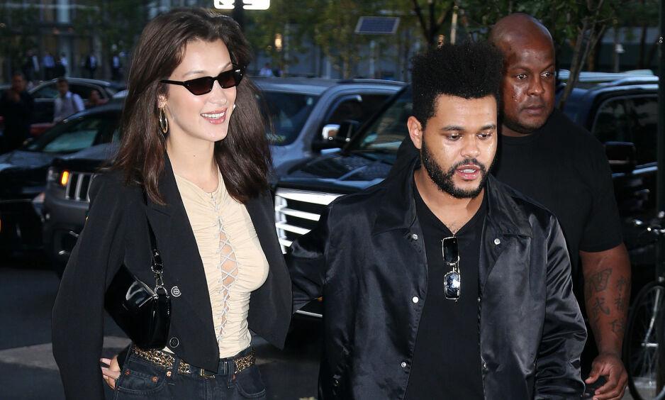 FANT TILBAKE TIL HVERANDRE: Flere nye innlegg i sosiale medier tyder på at Bella Hadid og The Weeknd er blitt et par igjen. Foto: NTB scanpix