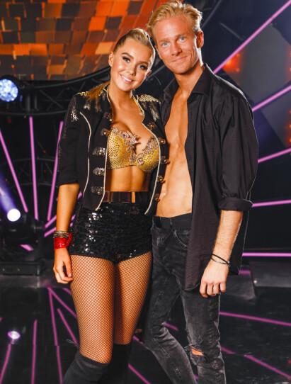 DANSEPARTNERE: Martine Lunde og proffdanser Fredric Brunberg har uke etter uke imponert i TV 2-programmet. Foto: Tor Lindseth