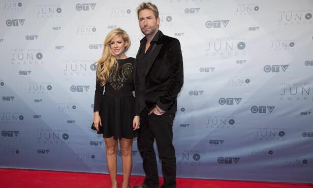 SAMMEN PÅ RØD LØPER: Lavigne og Chad Kroeger gikk fra hverandre i 2015, men kom sammen på rød løper flere måneder etter nyheten ble kjent. Her i april 2016. Foto: Wenn/ NTB scanpix
