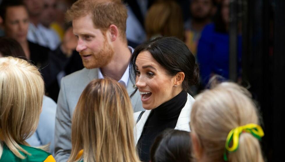 <strong>BLIR FORELDRE:</strong> Prins Harry og hertuginne Meghan blir våren 2019 foreldre for første gang. Nå menes det at prins Harry har avslørt kjønnet. Foto: NTB scanpix