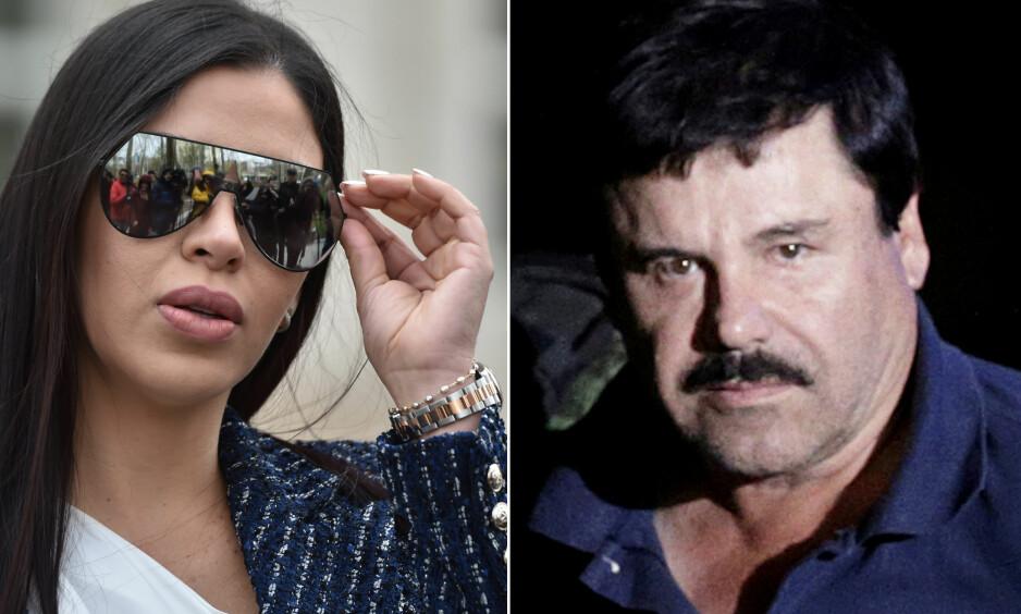 GIFT: Joaquin «El Chapo» Guzman har nesten sittet to år i isolasjon. I mellomtiden har kona Emma Coronel Aispuro levd en ekstravagant livsstil. FOTO: NTB Scanpix