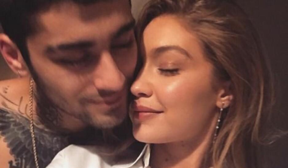 STJERNEPAR NOK EN GANG?: Skal vi tro supermodellen Gigi Hadids siste oppdatering på Instagram, har hun igjen funnet tilbake til popstjernen Zayn Malik. Foto: Skjermdump fra Instagram