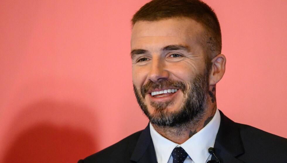 <strong>I DAG:</strong> David Beckham har gått for en mer beskjeden frisyre i 2018. Foto: NTB Scanpix
