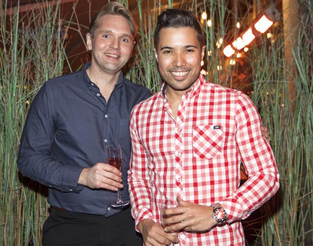 TRIVES SAMMEN: Jens Christian og Tommy har stor respekt for hverandre både profesjonelt og privat. Foto: Andreas Fadum