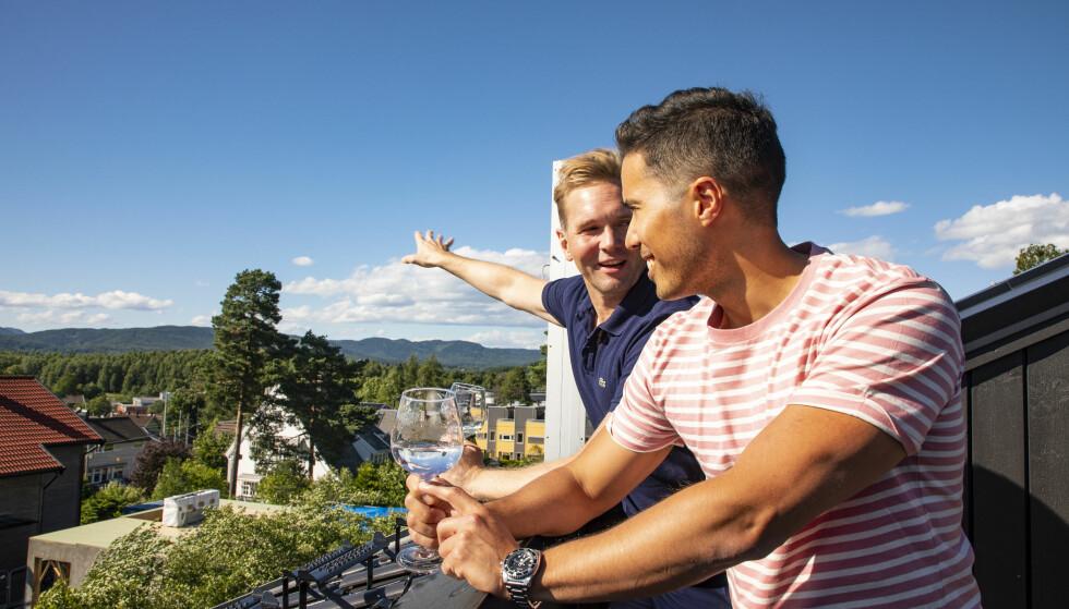 FLOTT UTSIKT: «Åsted Norge»-programlederen og samboeren kan nyte utsikten over byen fra sin nye bolig. Foto: Tor Lindseth
