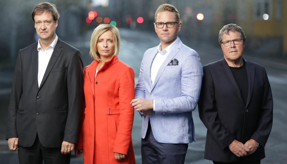 TV-AKTUELLE: Jens Christian Nørve sammen med «Åsted Norge»-kollegene John Christian Elden, Hanne Kristin Rohde og Asbjørn Hansen. Foto: TV 2